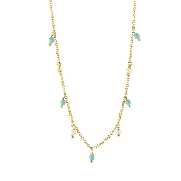 Pearls & Turkoise Necklace