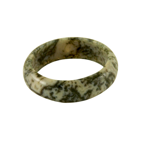 Spotted Jasper Style Stone Band Ring