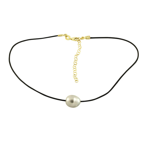 Grey Pearl Choker Necklace