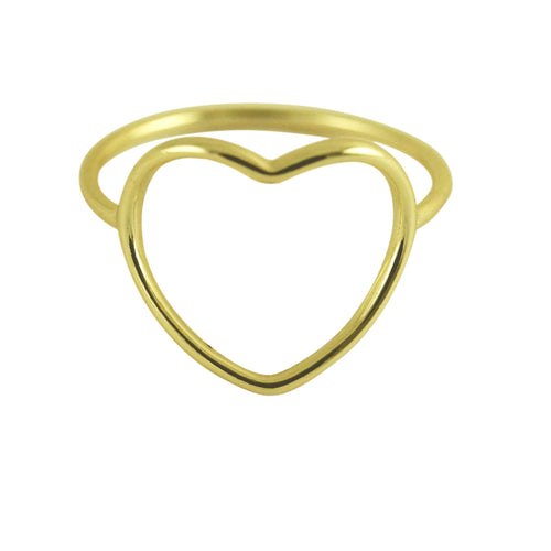 Gold-Dipped Heart Ring