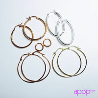 """Rosy Arches"" Oval Hoop Earrings"