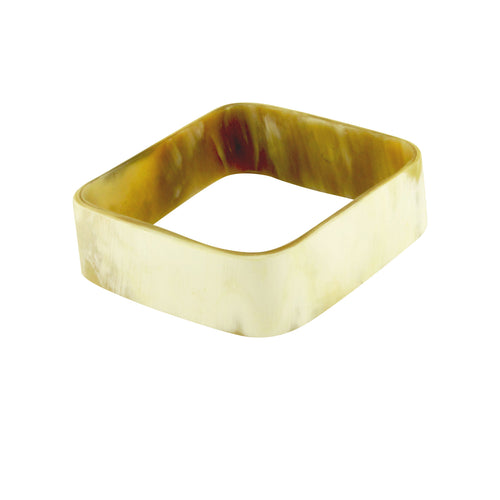 White Horn Style Square Bangle