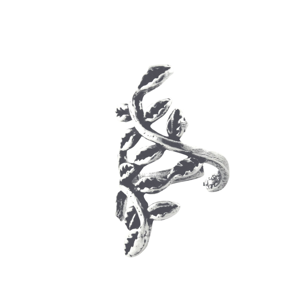 Vine Leaves Sterling Silver Ear Cuff Earring