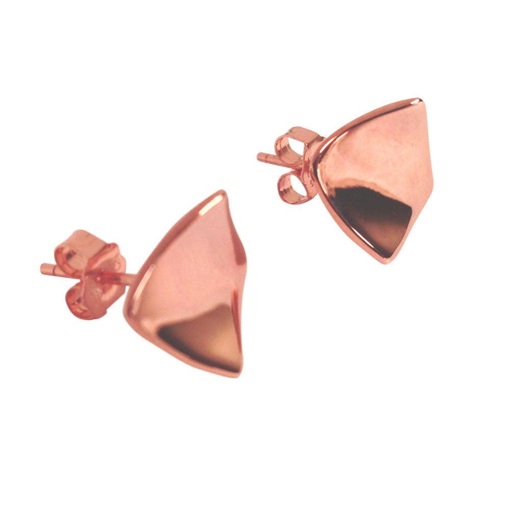 "Rosy ""Kite"" Square Stud Earrings"