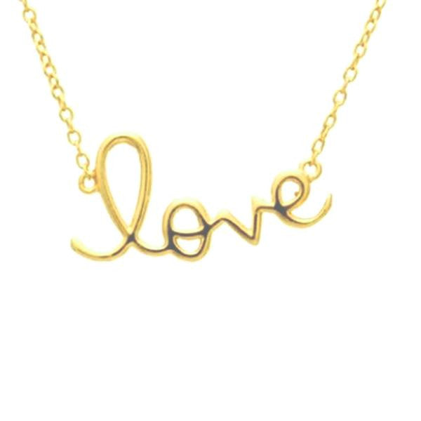"Sterling Cursive ""Love"" Necklace"