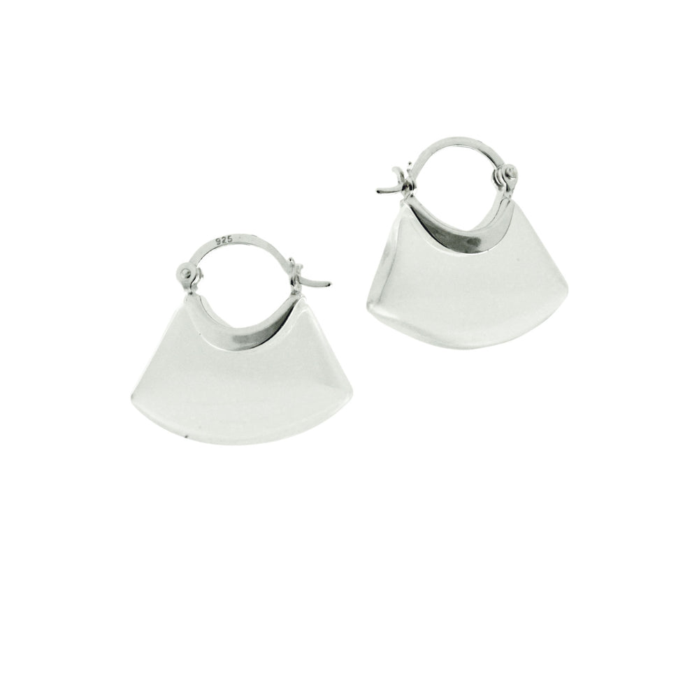 Sterling Silver Lucite Hoop Earrings
