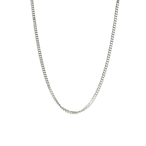 Sterling Silver Miami Style Link Curb Chain Adjustable Necklace