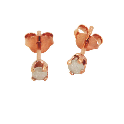 Rosy Little Diamond Earrings