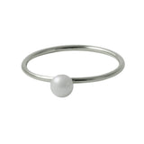 """Frosty"" Sterling Silver Mini Pearl Ring"