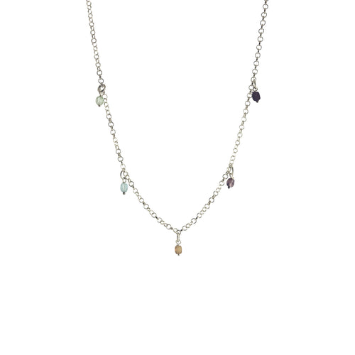 apop multicolor silver necklace