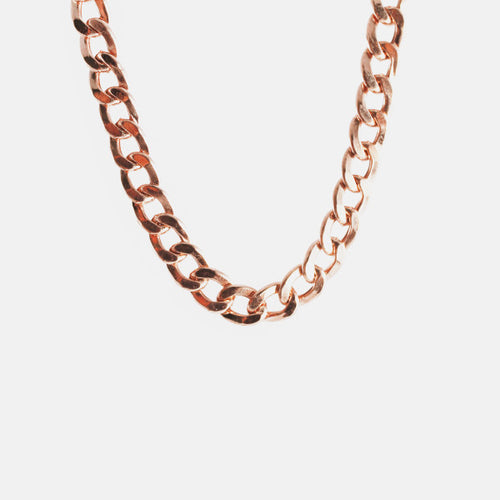 Rosy Curb Chain Necklace 18 inch - 4mm