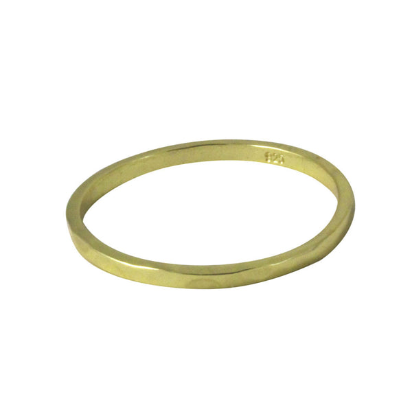 Hammered Gold-Dipped Thin Band Ring