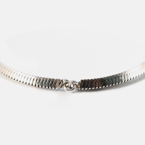 Oxidized Sterling Silver Bar Bracelet