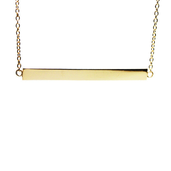 """Stripe"" Gold-Dipped Bar Necklace"