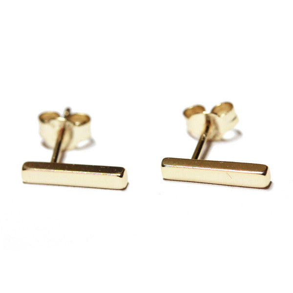 Sterling Silver Mini Bar Earrings