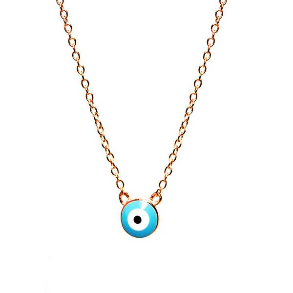 Sterling Silver Blue Eye Necklace