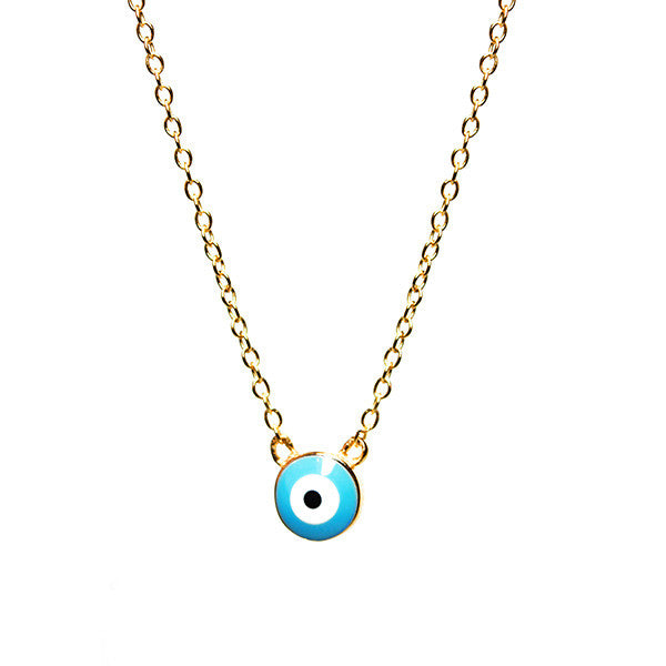Gold-Dipped Blue Eye Necklace