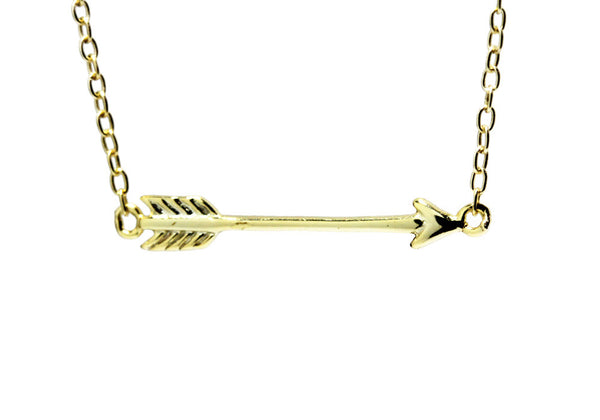 Gold-Dipped Mini Arrow Necklace