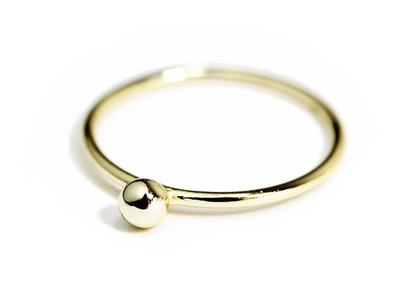 """Dotty"" Sterling Silver Bead Stacking & Midi Ring"