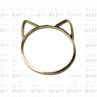 "14kt Yellow Gold ""Marla"" Cat Ring Thin Band"