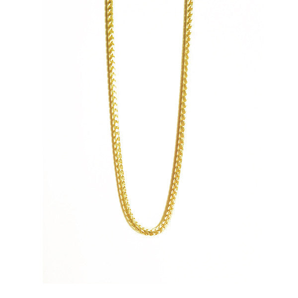 Gold-Dipped Franco Chain Layering Necklace 30 inch Unisex
