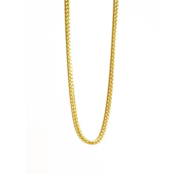 Thin Gold Vermeil Franco Chain Layering Necklace 30 inch Unisex