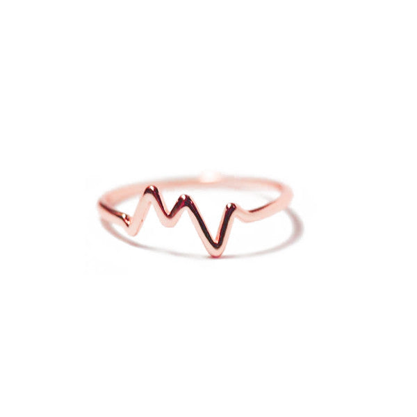 """Electric"" Rosy HeartBeat Ring"