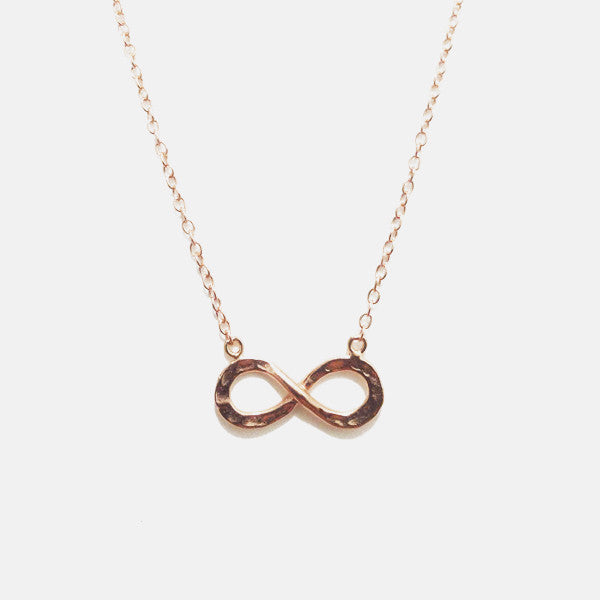 Rosy Infinity Pendant Necklace 16 inch