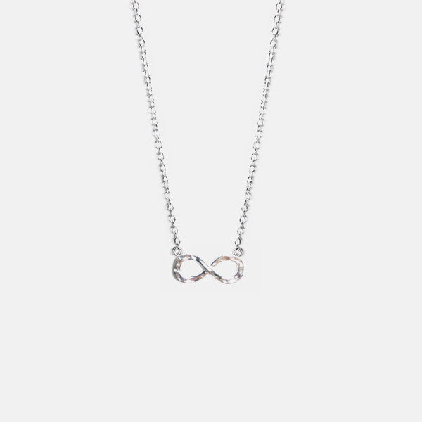 Hammered Sterling Silver Infinity Necklace