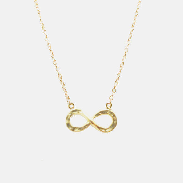 Gold-Dipped Infinity Necklace  16 inch