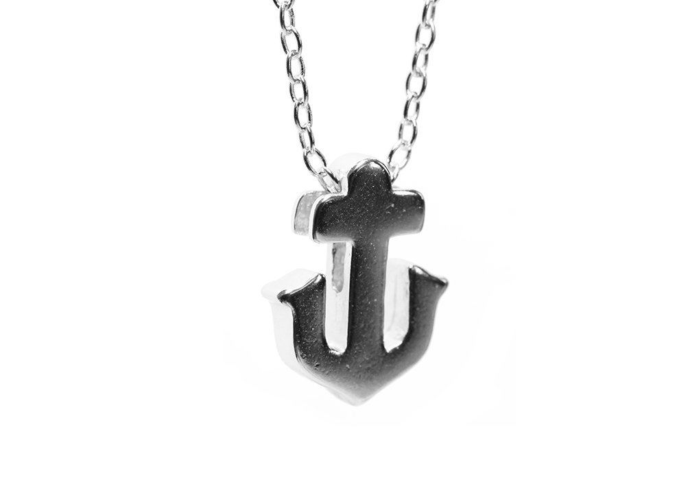 Gold-Dipped Anchor Pendant Necklace
