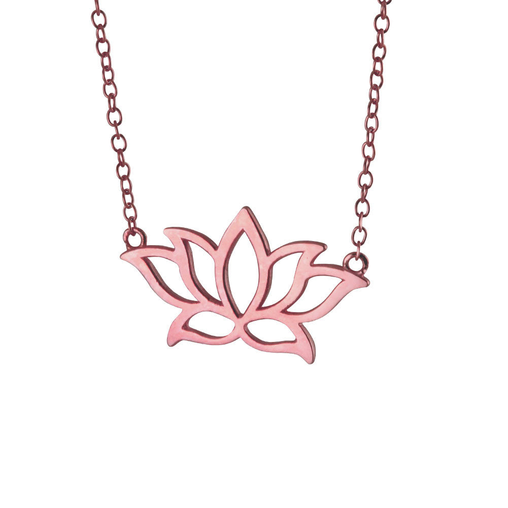 Rose Gold-Dipped Lotus Necklace