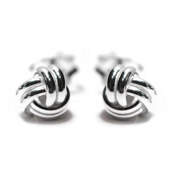 """Silver Swirl"" Sterling Silver Mini Love Knot Earring 5mm"