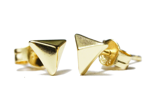 Mini Gold-Dipped Pyramid Stud Earrings