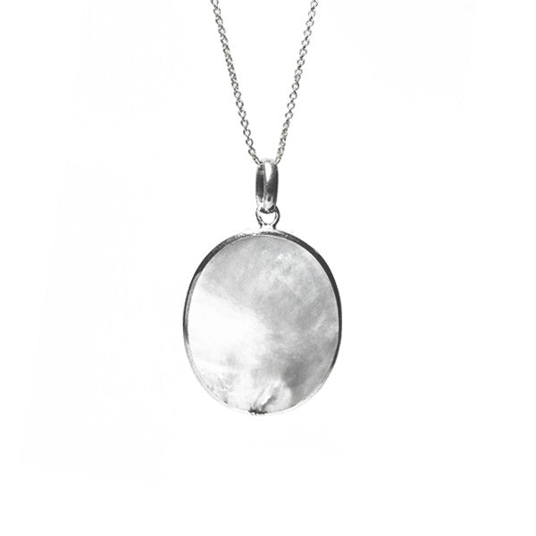 Sterling Silver Mother of Pearl Pendant Necklace
