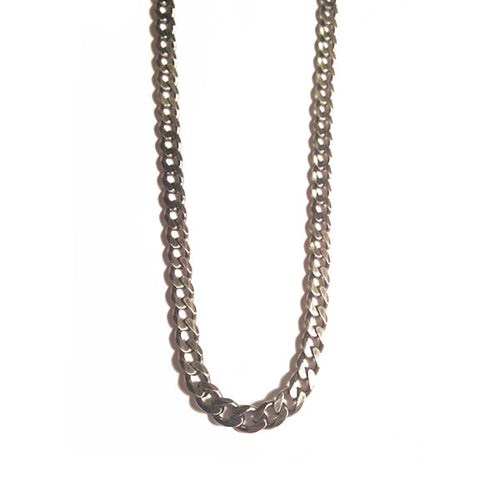 Darkened Silver Curb Chain Necklace