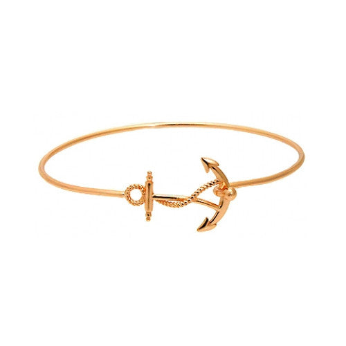 Rosy Anchor Bangle Bracelet