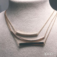 """Stripe"" Sterling Silver Bar Necklace"