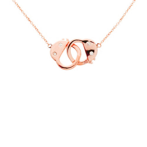 Rosy Handcuff Necklace 16-17 inch