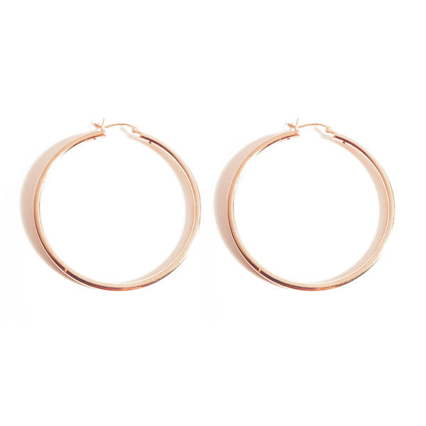 "Rosy ""Forever"" Hoop Earrings 2 inch"
