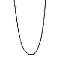 Black Franco Chain Layering Necklace Unisex
