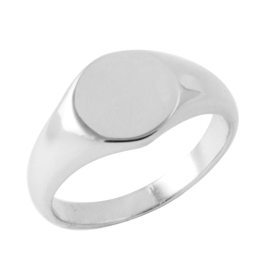 Sterling Silver Mini Signet Ring Unisex