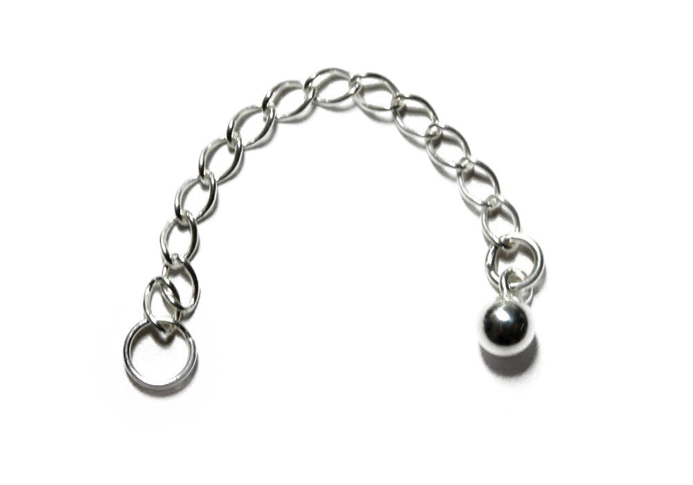 Sterling Silver 2 inch Chain Extender for Necklaces