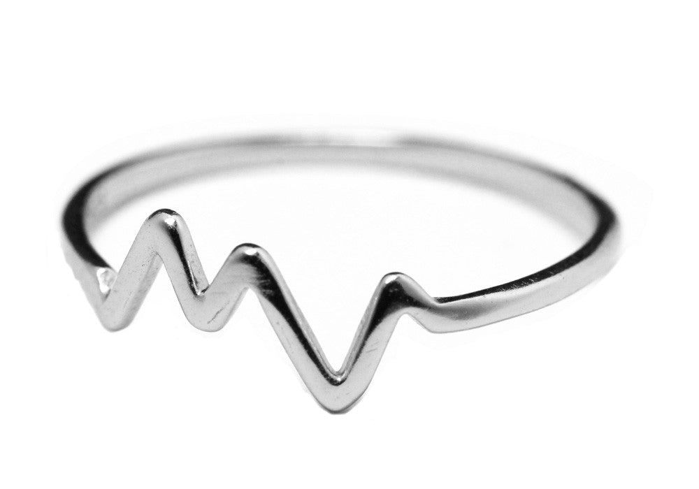 "Sterling Silver HeartBeat Ring ""Electric"""