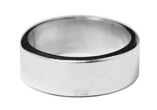 Sterling Silver Solid Wide Band Ring 5mm