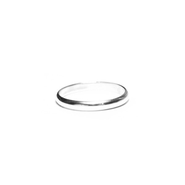 """Whispers"" Sterling Silver 2mm Thin Band Ring & Midi Style"
