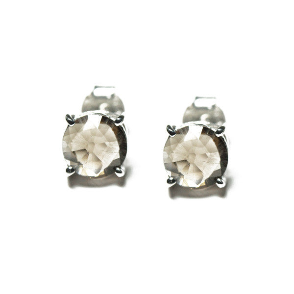Sterling Silver Smoky Topaz Earrings