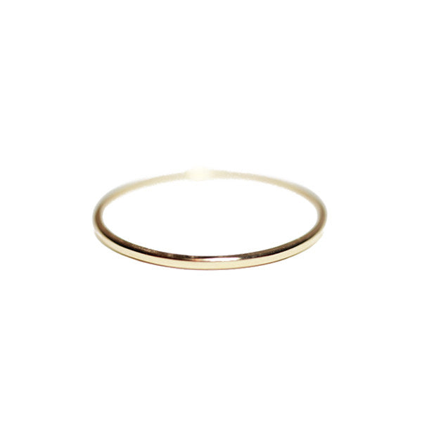 14kt Yellow Gold Thin Band Ring 1mm