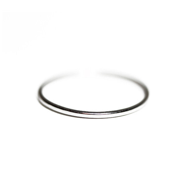 14kt Blackened Gold Thin Band Ring 1mm