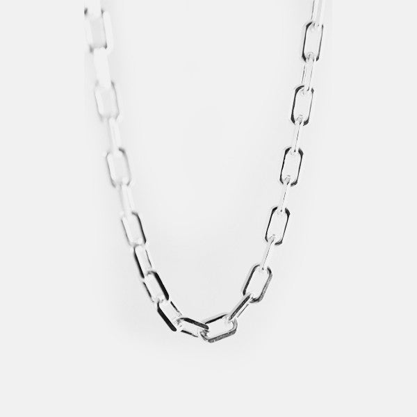 Sterling Silver Anchor Link Long Chain Necklace 30 inch